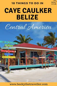 Caye Caulker Belize is a beautiful mangrove island, a water taxi away from Belize City. Read 18 things to do whilst you're visiting Caye Caulker, Belize. Belize Honeymoon, Belize Vacations, Belize Travel, Honeymoon Destinations, Central America, South America, Travel Guides, Travel Tips, Caye Caulker Belize