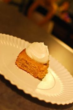 Pumpkin Angel Food Cake (Low-Fat!)