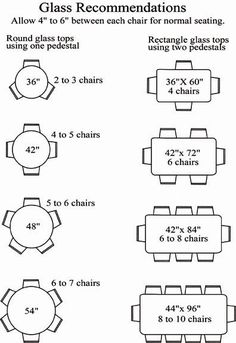 table sizes and seating - Google Search | Home stuff | Pinterest ...