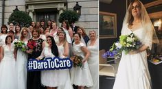 Watch: 'Bride' Ian Dempsey walks aisle in wedding dress for Dare to Care campaign in Dublin White Wedding Dresses, Bridesmaid Dresses, Formal Dresses, Dares, Twitter, Photos, Fashion, Bridesmade Dresses, Dresses For Formal