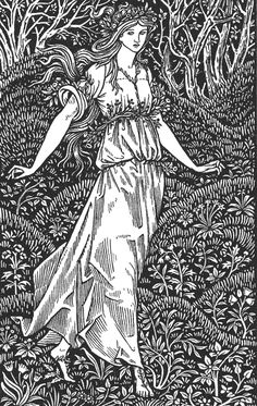 William Morris: Illustration from The Wood Beyond the World, 1894 from artcyclopedia