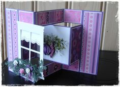 Altered tri-fold with Madison Window die