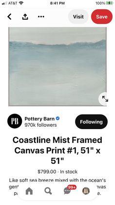 Framed Canvas Prints, Canvas Frame, Asian Design, Pottery Barn, Mists, Ocean, Art, Art Background, Kunst