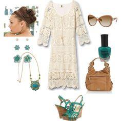 ~flower child~ dress by Qsw Coastal Crochet Dress~found on quicksilver.com~