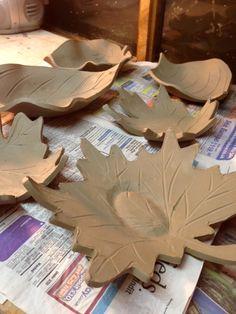 leaf bowls in progress