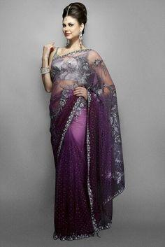 Purple saree!!!