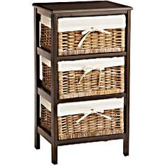 Kubu 3-Drawer Storage from Pier 1  - this would also be nice for possibly dining area to hold table clothes, place mats, napkins or fruits and veggies