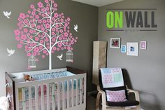 Large  Flower tree Nature vinyl  wall tree decal by ONWALLstudio, $78.00