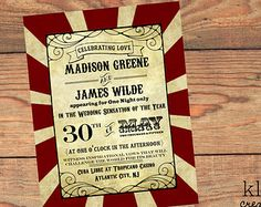moulin rouge invitations – Etsy