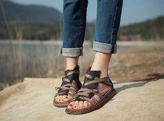 Zapatos sandalias de cuero zapatos verano zapatos sandalias