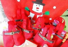 5 New Red Christmas Santa Pants Gift Bags Sweets Treat Xmas Stocking Filler