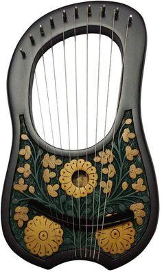 Handmade Lyre Harp 10 Metal String Instrument Shesham | Etsy Hand Craft Work, Beautiful Roses, Chrome Finish, High Gloss, Solid Brass, Metal, Amazing Decor, Garden Items, Harp