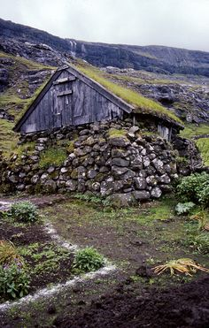 Old shed, Saksun, Faeroes by palli gestur, via Flickr