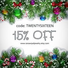 The year is drawing to an end, and I'm offering you my last promo for this year. 15% off your total with any purchase you make in my shop TODAY ONLY! Simply use coupon code: TWENTYSIXTEEN at checkout. *Offer valid for one day only: 21st. December.*
