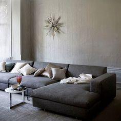 belle maison: Idea Gallery: Wall Decor Above the Sofa