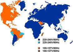 Mapa con los enchufes del mundo - Foros de Economía, hipotecas y bolsa