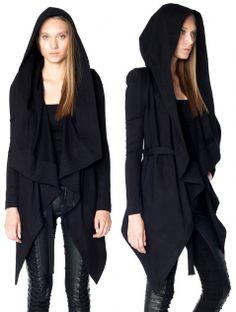 Skingraft - royal hoodie, in black terry, $240