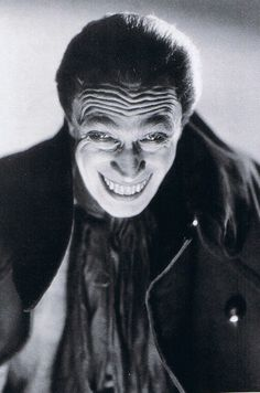 "Conrad Veidt ""The Man Who Laughs"" 1928..... original inspiration for The Joker in Batman"