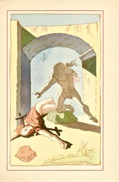 Illustration by Salvador Dali for the 1948 edition of The Autobiography of Benvenuto Cellini.