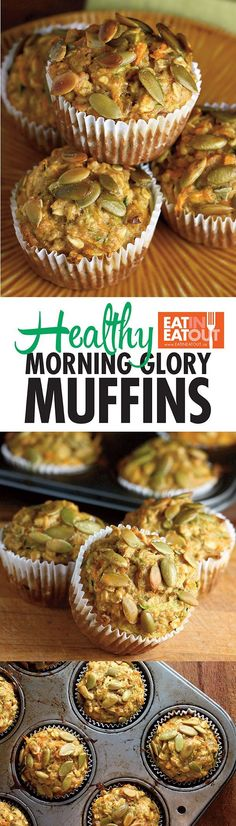Healthy and great tasting? Try these Healthy Morning Glory Muffins and see!