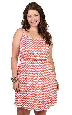 plus size chevron dress with elastic waist