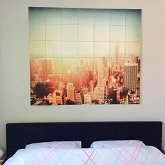IXXI wall decoration made with a picture of a sunny skyline of New York. The price of this example is $127.35. #ixxi #ixxidesign