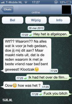 Facebook heeft gisteravond laat bekendgemaakt Whatsapp te hebben gekocht voor een slordige 19 miljard dollar, of omgerekend zo'n 13,8 miljard euro! We konden dat bericht natuurlijk niet zo maar aan ons voorbij laten gaan, en hebben daarom voor jullie de 31 slechtste Whatsapp conversaties opgezocht! Zelf ook zulke slechte Whatsapp conversaties? Upload ze dan hierrrrr en deel ze met ons!! LOL Dutch Guys, Punny Puns, Funny Memes, Jokes, Funny Messages, Online Dating, Me Quotes, Texts, Funny Pictures