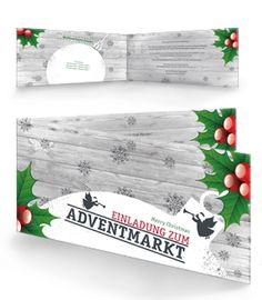 editierbare einladungskarten für weihnachten von onlineprintxxl, Einladung