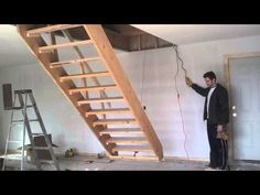 How To Build Folding Loft Stairs DoityourselfHow To Build Folding Loft Stairs Attic Adong CoHow To Build Folding Loft Stairs TatianapagesgalleryFolding Stairs To Loft PlansFolding Attic Stairs Ladder Springs Installation … Garage Stairs, Garage Attic, Loft Stairs, Attic Staircase, Attic Ladder, Modern Staircase, Attic Loft, Staircases, Loft Ladders