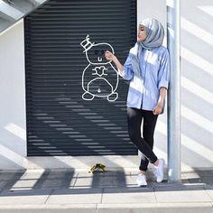 ZIZI @ziziosashion Instagram photos   Casual Hijab Fashion