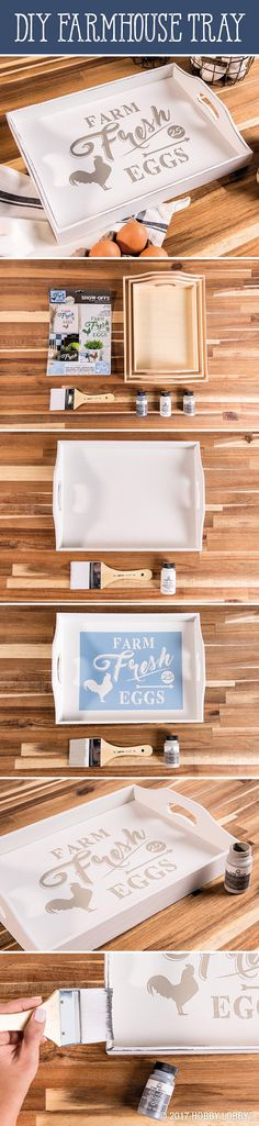 Stencil your way to a fresh farmhouse with a DIY tray!