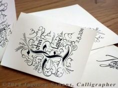 Thank you cards Wedding Calligraphy, Your Cards, Thank You Cards, Bespoke, Appreciation Cards, Taylormade, Diy Wedding Calligraphy, Wedding Thank You Cards