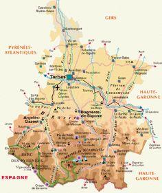 Carte touristique des Hautes-Pyrénées
