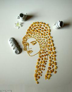 Sarah Rosado (Portrait made of Cornflakes)