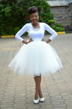 All white tulle skirt #Kambua #KenyanFashion
