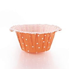 Ruffle Orange Polka Dot Design Baking Cups/Case of 576 Tags:  Ruffle Baking Cups; Baking Cup; baking cups;Orange Dot Ruffle Baking Cups;Ruffle Baking Cups; https://www.ktsupply.com/products/32788327372/Ruffle-Orange-Polka-Dot-Design-Baking-CupsCase-of-576.html