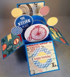 Birthday card, card in a box