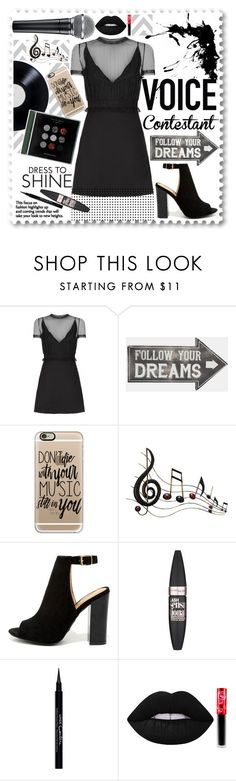 """""""The voice"""" by alehrs ❤ liked on Polyvore featuring Valentino, Sass & Belle, Casetify, Benzara, Bamboo, Maybelline, Givenchy, Lime Crime, thevoice and YahooView"""