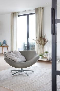 GIGI ARMCHAIR - Designer Armchairs from Label van den Berg ✓ all information ✓ high-resolution images ✓ CADs ✓ catalogues ✓ contact information. Interior Exterior, Interior Design, Plastic Adirondack Chairs, Cafe Chairs, Egg Chair, Designer, Lounge, House Design, Modern