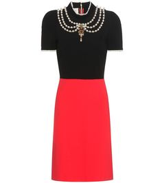 GUCCI Embellished crêpe dress. #gucci #cloth #dresses