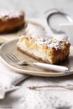 Penne im Topf: Spekulatius-Cheesecake mit Marzipanstreuseln