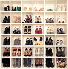 6 x 6 square shelf for shoes. love!