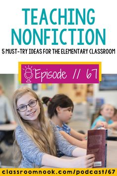 If you're teaching nonfiction reading skills to your upper elementary grade students then you must listen to this new podcast all about the best teaching tips and lesson ideas! Listen and learn the 5 must-try ideas for teaching nonfiction in the elementary classroom now. Get tips for teaching nonfiction text features, comprehension strategies, text structure, fact & opinion, and MORE. Get access to a FREE Nonfiction Linktivity resource to try with your 3rd, 4th, & 5th grade students. Third Grade Reading, Student Reading, Middle School Writing Prompts, Nonfiction Text Features, Reading Comprehension Strategies, Vocabulary Practice, Elementary Education, Upper Elementary, Reading Skills