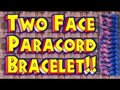 How To Make A Paracord Two Face Bracelet With Buckles