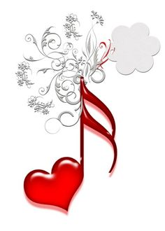I Love You Music! I love you, red heart shaped music notes, Images Gif, Music Images, Music Pictures, Music Symbols, Love Symbols, I Love Heart, My Love, Fire Heart, Cool Sketches