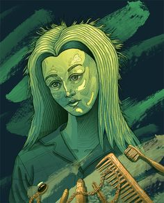 """She's late"" illustration Female Portrait, Behance, Cosmetics, Illustration, Fictional Characters, Women, Art, Art Background, Kunst"
