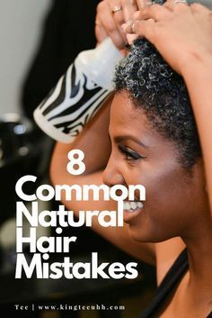 Thicker Hair Remedies Natural Hair Mistakes Pin - As much information as there is at our fingertips these days for how to care for and style natural hair, we can still find ourselves doing things that don't necessarily promote hair health. Natural Hair Journey, Natural Hair Care Tips, Natural Hair Growth, Natural Hair Styles, Natural Curls, Styling Natural Hair, Natural Hair Bangs, Pelo Afro, Pelo Natural