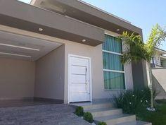 100 fachadas de casas modernas e incríveis para inspirar seu projeto Duplex House Design, Small House Design, Home Room Design, Modern House Design, Cottage Exterior, House Paint Exterior, Exterior Design, House Stairs, Facade House