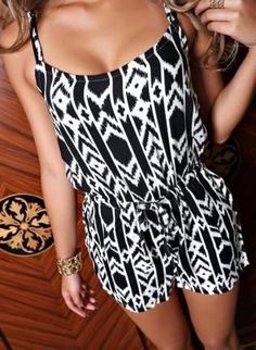 Girls geometric size jumpsuit The Fashion: Gorgeous dress black fur Summer outfits Teen fashion Cute Dress! Clothes Casual Outift for • teenes • movies • girls • women •. summer • fall • spring • winter • outfit ideas • dates • school • parties mint cute sexy ethnic skirt