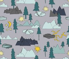 Rocky Mountain Walk fabric by tiffanyheiger on Spoonflower - custom fabric